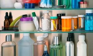 Pills in Bathroom Cabinet