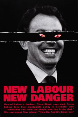 The Conservatives' demonic Blair poster from 1997. Photograph: Conservative Party Archive/Getty Images