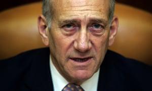 Former Israeli prime minister Ehud Olmert.