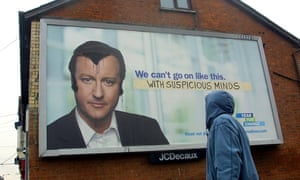 The full Elvis ... David Cameron gets a spray-paint quiff in 2010. Photograph: Steve Chatterley/newsteam.co.uk