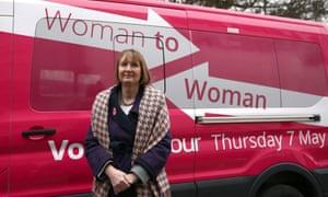 Harriet Harman pink van