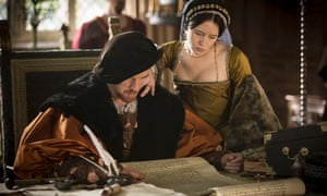 Anne Boleyn (Claire Foy) and Henry VIII (Damian Lewis) in Wolf Hall