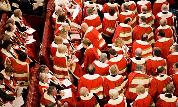 Lords at the state opening of parliament