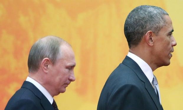 Russian President Vladimir Putin and US President Barack Obama in Beijing in November 2014.