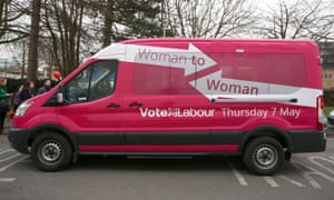 The pink campign pink van launched by deputy Labour leader Harriet Harman in Stevenage