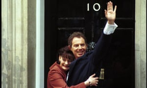 Tony and Cherie Blair at Downing Street after Labour's election victory in 1997. Under his premiership, non-dom numbers doubled from 67,600 to 137,000 between 1997 and 2007.