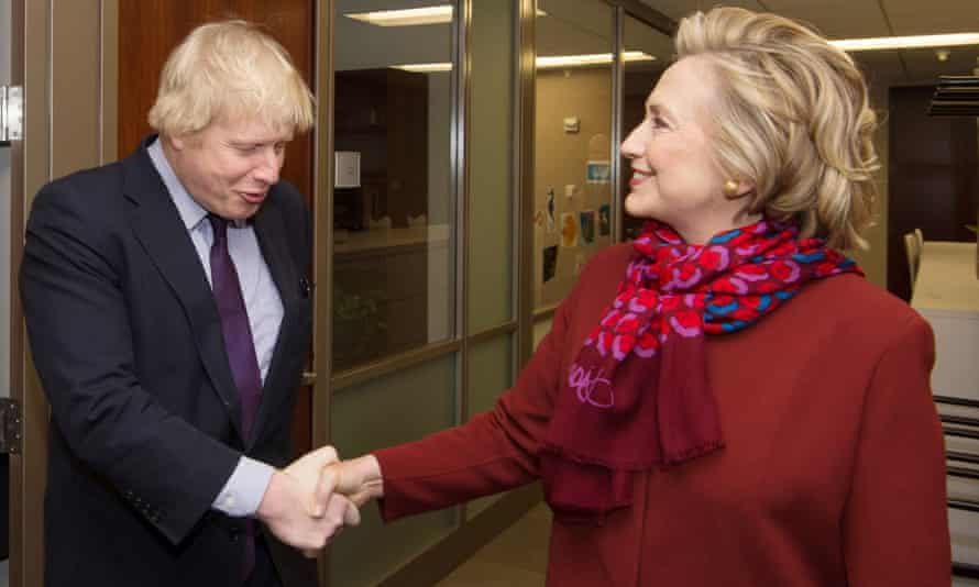 Boris Johnson Hillary Clinton