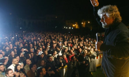 Beppe Grillo rally