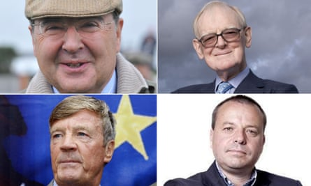 Andrew Reid, Stuart Wheeler, Paul Sykes and Arron Banks