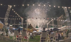 Royal Croquet Club patrons treated to a fireworks display.