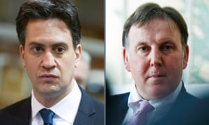 Ed Miliband and Lord Fink.