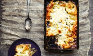 Chicory, walnut and gorgonzola bechamel lasagne.