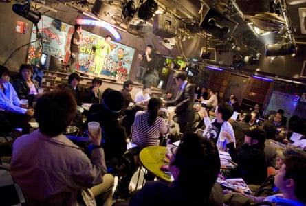 Anti-Valentine's Day party 'Himote Valentine' at in Shinjuku, Tokyo, Japan