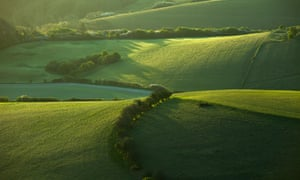South Downs National Park. Horizontal drilling for shale gas will now be allowed if the well pad is outside of the park.