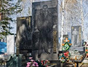Russian Mafia Gravestones in Ekaterinburg Cemeteries