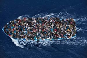 Rescue operation by Massimo Sestini won 2nd Prize in General News Singles category