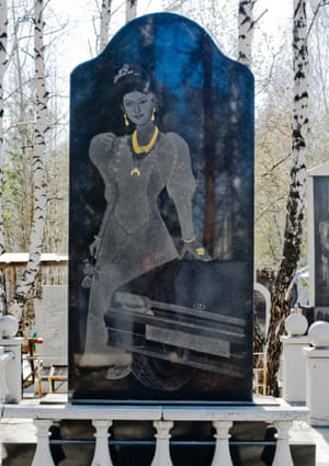 Russian Mafia Gravestone in Ekaterinburg Cemeteries