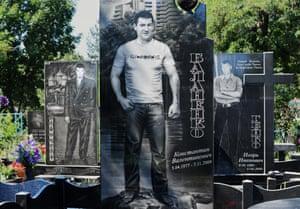 Russian Mafia Gravestone in Ekaterinburg Cemeteris