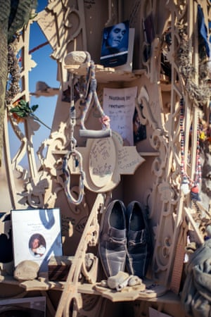 Mementoes at the Temple of Grace, Burning Man 2014.