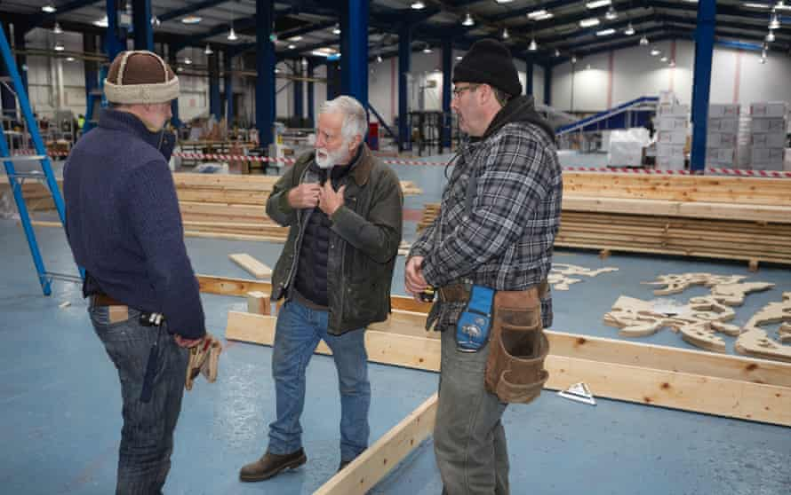 David Best with his core team of builders in Derry.