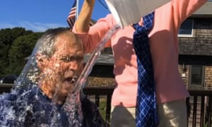 George Bush takes the ice bucket challenge