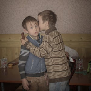 Orphan brother by  by Asa Sjostrom won the second prize in the daily life singles category. Twin brothers Igor and Arthur hand out chocolates to their classmates to celebrate their ninth birthday in an orphanage in Moldova.