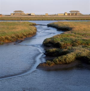 Orford Ness pagodas Suffolk