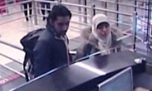 Hayat Boumeddiene arriving at Istanbul's Sabiha Gokcen airport on 2 January this year.