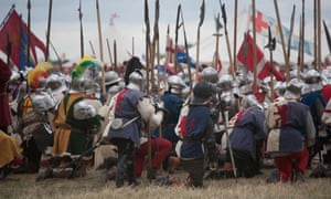 A re-enactment of the Battle of Bosworth.