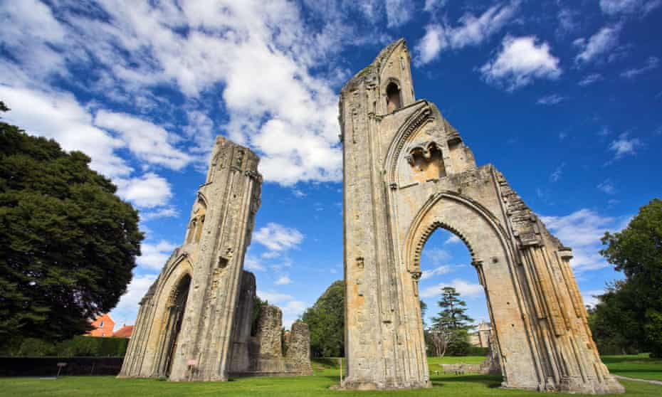 Glastonbury Abbey ruins.