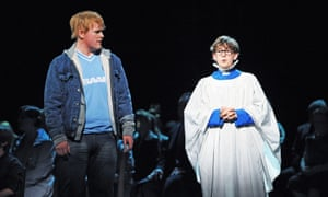 Nicky Spence (Brian) and Joseph Beesley (Boy; real Jake)  in Two Boys by Nico Muhly @ London Coliseum, 2011.