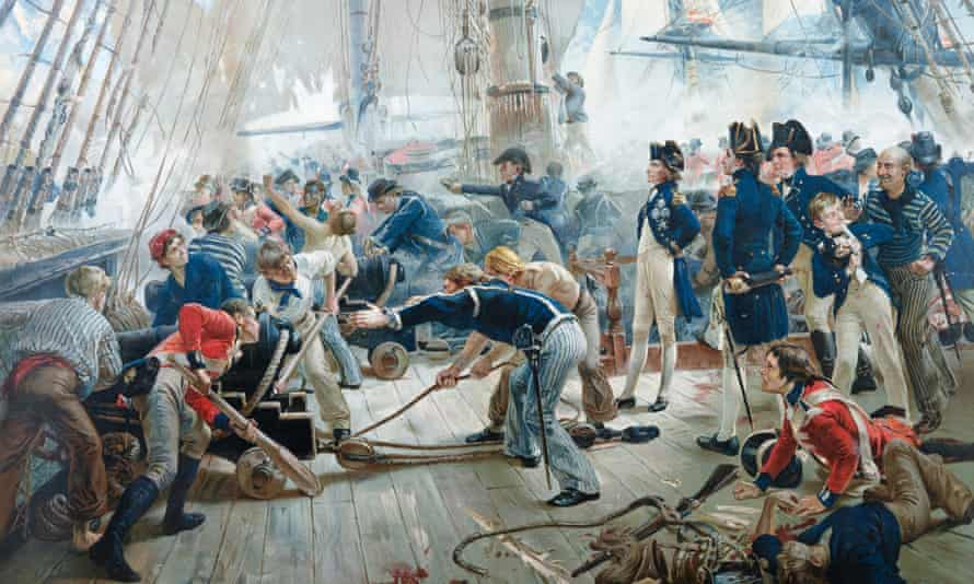 Orford Smith's lithograph of The Hero of the Trafalgar by William Heysbam Overend.