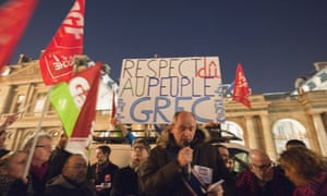 A solidarity rally held in Paris this week for the Greek government as the country entered bailout talks with its eurozone partners.