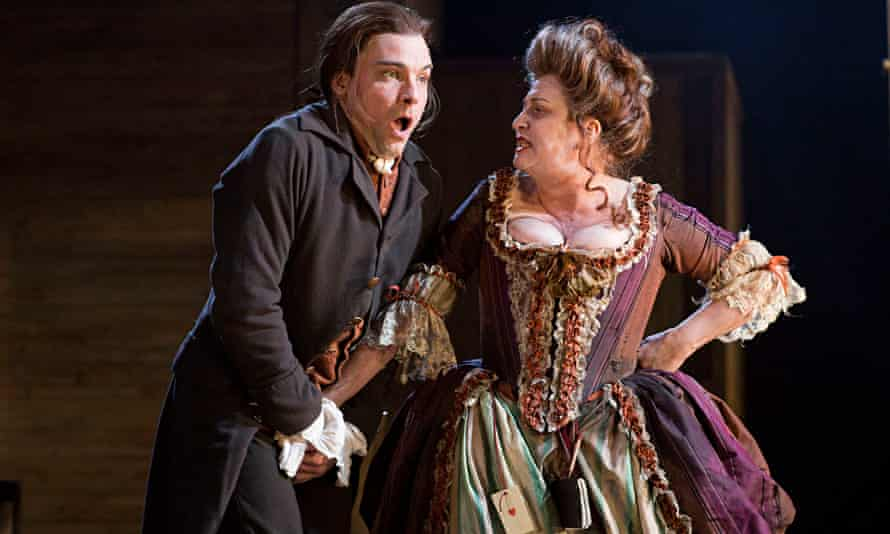 Gripping stuff: Nick Barber (Dingle) and Caroline Quentin (Fanny Hill) in The Life and Times of Fann