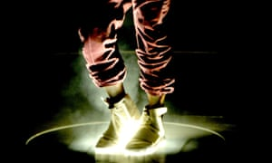 Here come the hot stepper: Kanye in the Yeezy Boost at the Grammys
