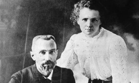 Marie and Pierre Curie in 1902.