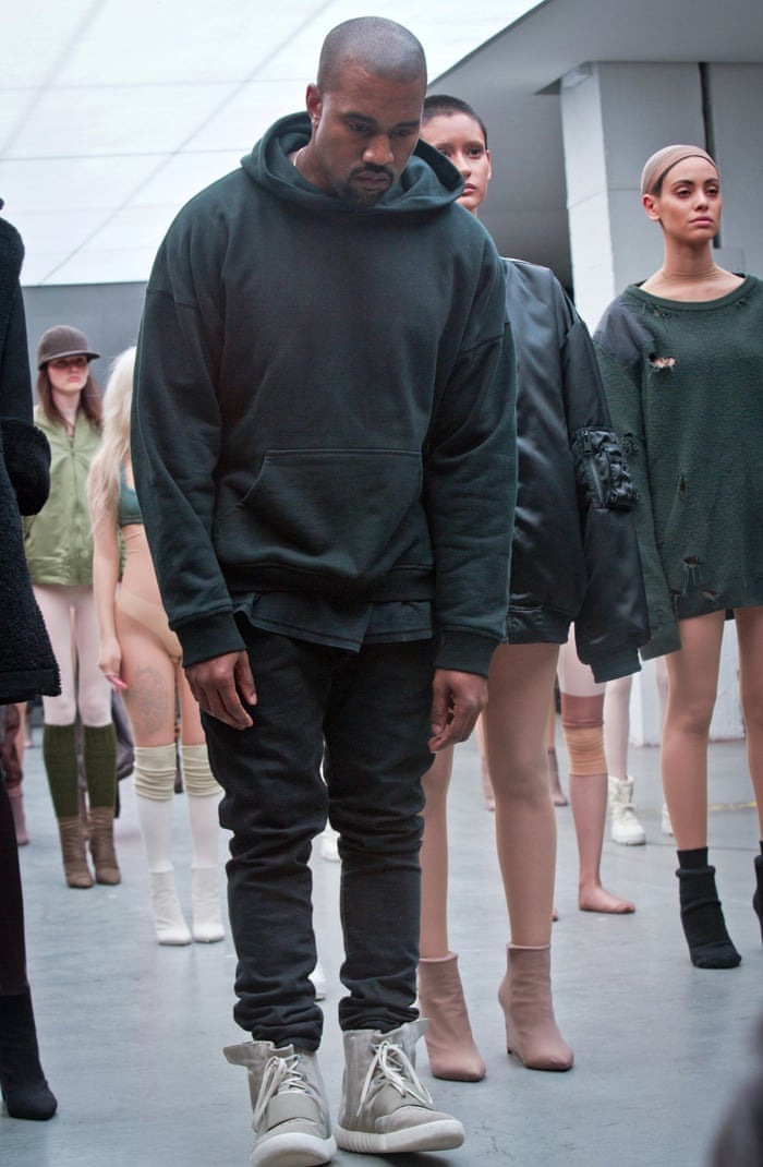 Kanye West debuts fashion line – and new song at New York