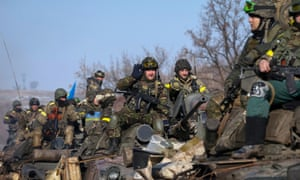 Ukraine armed forces troops near Debaltseve, eastern Ukraine