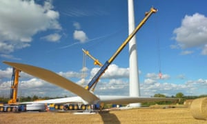 EWT wind turbine Manor Farm, UK
