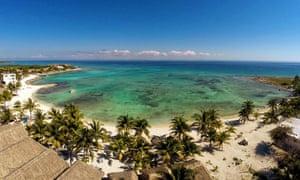 Paamul beach, Playa del Carmen.