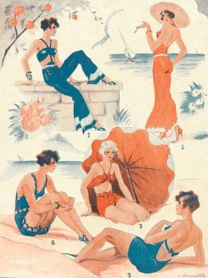 Le Sourire magazine – beachwear illustration