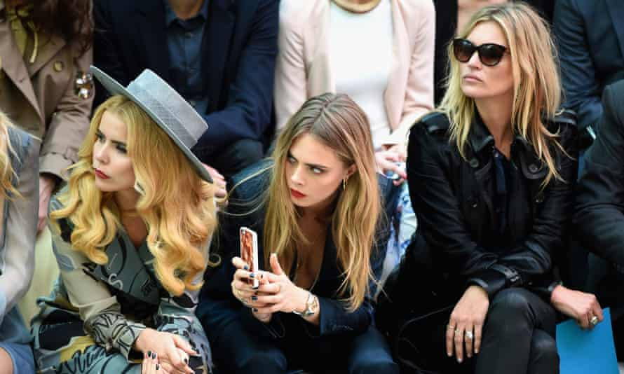 Paloma Faith, Cara Delevingne and Kate Moss attend the Burberry womenswear show