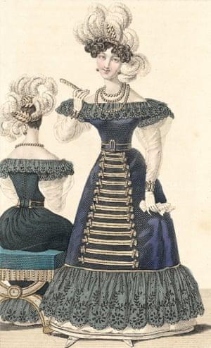 Paris fashions, as illustrated in Petit Courrier des Dames