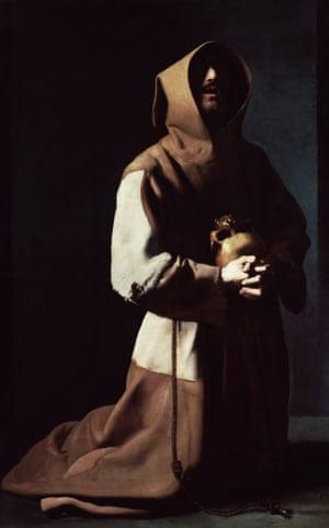 Saint Francis in Meditation (1635-39) by Francisco de Zurbarán.