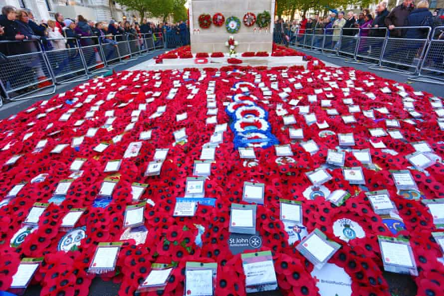 The Cenotaph on Remembrance Sunday.