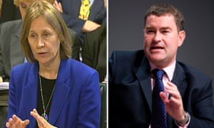HMRC boss Lin Homer and Treasury minister David Gauke