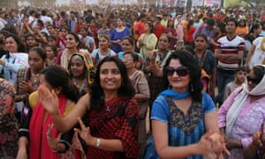 A One Billion Rising event in Ahmadabad, India