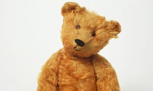 Sitting 1907 teddy bear, front view