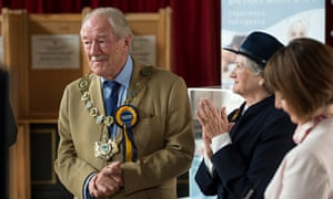 Michael Gambon's Howard Mollison suckers the villagers in The Casual Vacancy. Photograph: Steffan Hi
