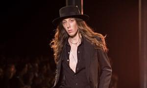 Saint Laurent: Paris fashion week